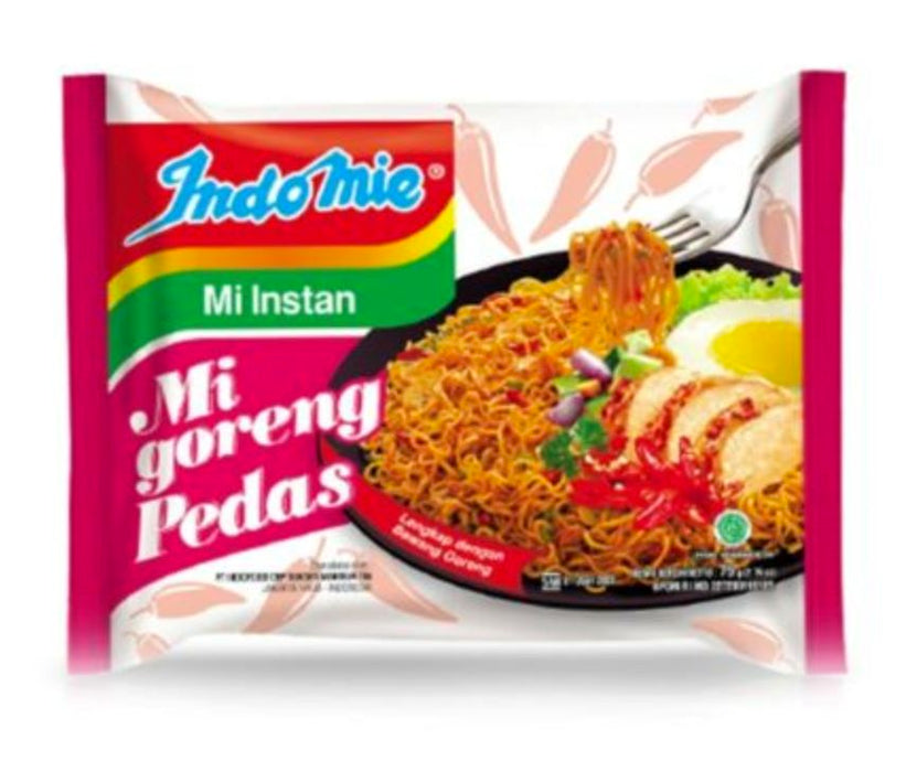Indomie Mi Goreng PEDAS Spicy Fried Noodles 85g - Yin Yam - Asian Grocery