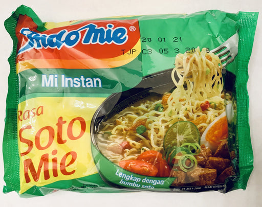 Indomie RASA SOTO MIE Instant Noodles (70g x 5 Packs)-Carton x 8 Instant Meals Indomie