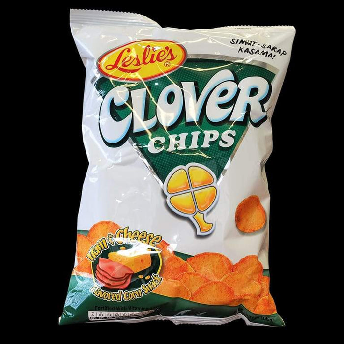 Leslie Clover Chips Ham & Cheese 155g - Yin Yam - Asian Grocery