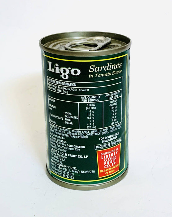 Ligo Sardines in Tomato Sauce 155g SMALL GREEN