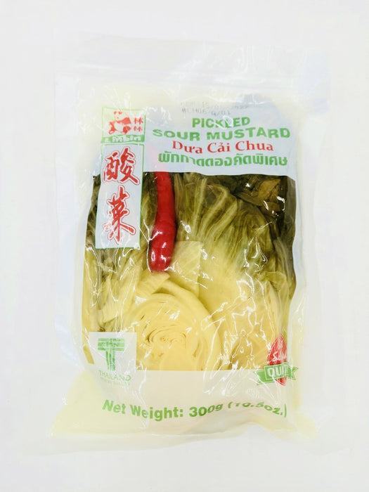 Lin Lin Pickled Sour Mustard with CHILLI 300g