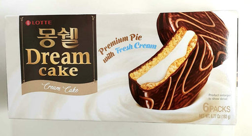 Lotte Dream Cake Premium Pie with Fresh Cream 6 Packs 192g - Yin Yam - Asian Grocery