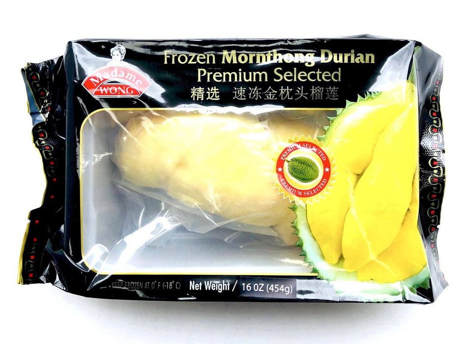Madame Wong FROZEN Mornthong Durian Premium Selected 454g