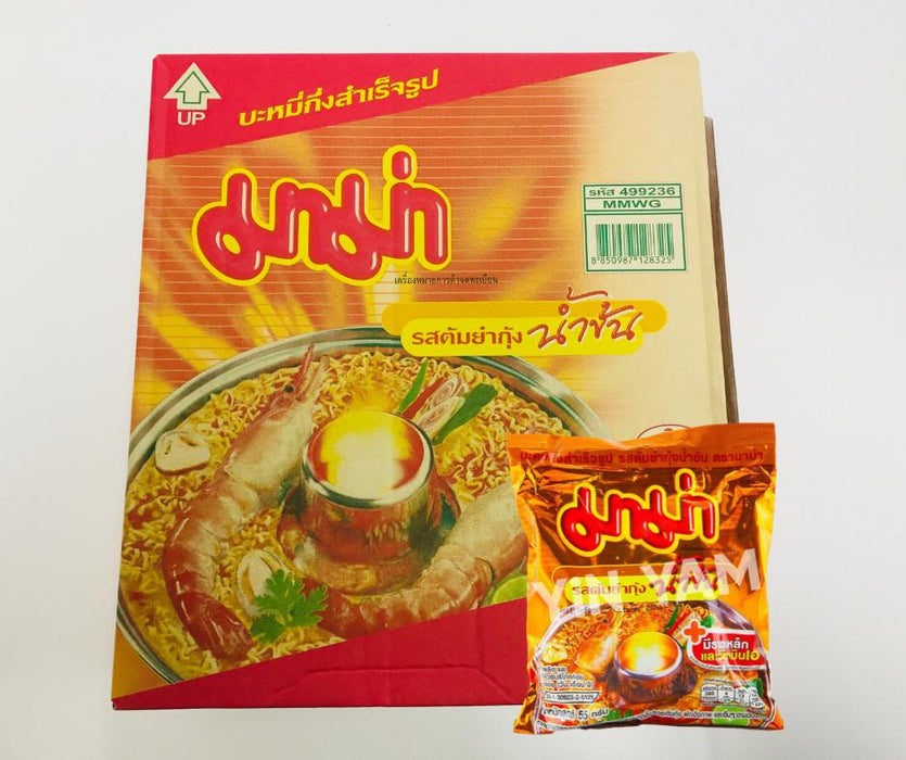 Mama Instant Noodles CREAMY TOM YUM SHRIMP 55g-Pack of 30 Noodle for Cooking Mama