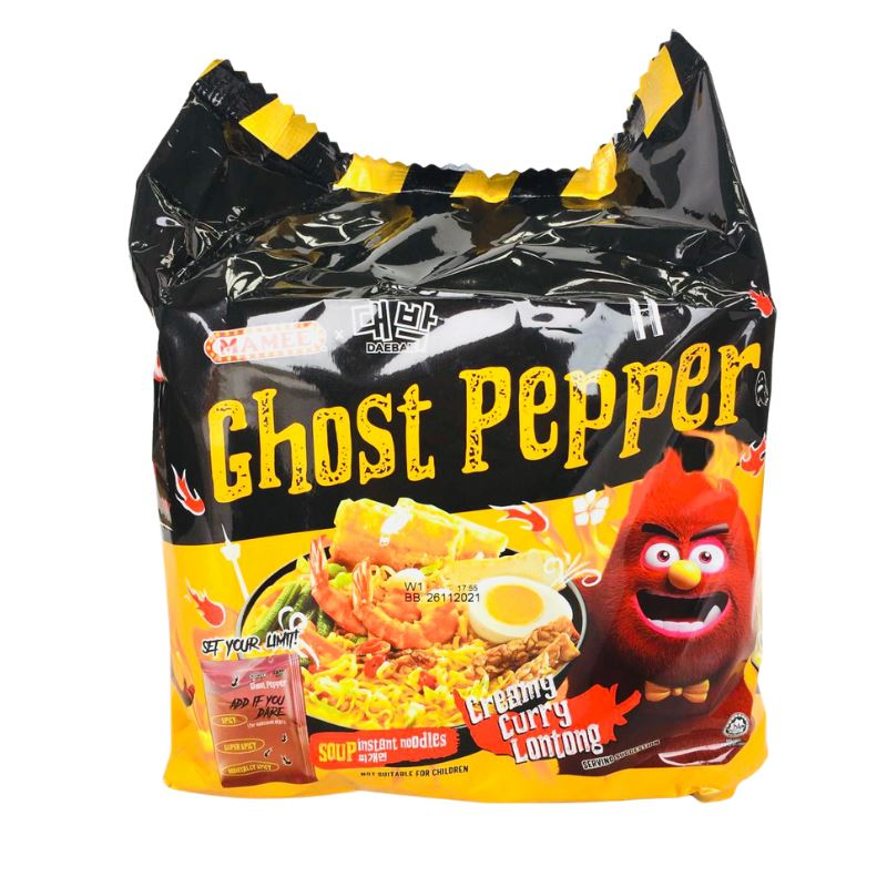 MAMEE Ghost Pepper CREAMY CURRY LONGTONG (119g x 4)