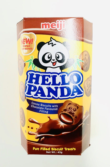 Meiji Hello Panda COCOA BISCUITS WITH CHOCOLATE FILLING 43g-Pack of 10