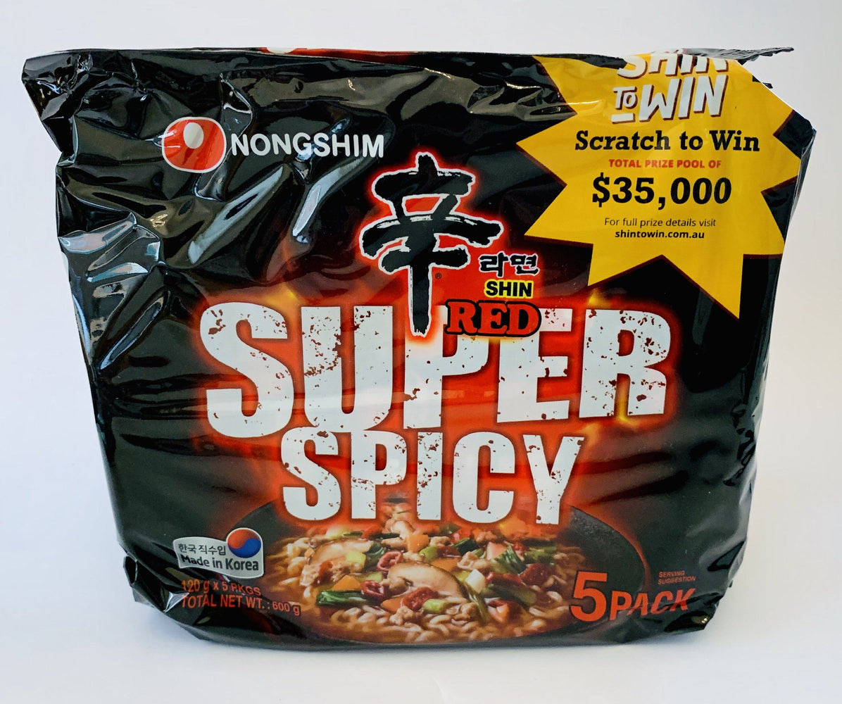 Nongshim SHIN RED SUPER SPICY 5 Pack (120g x5) Instant Noodle Nongshim
