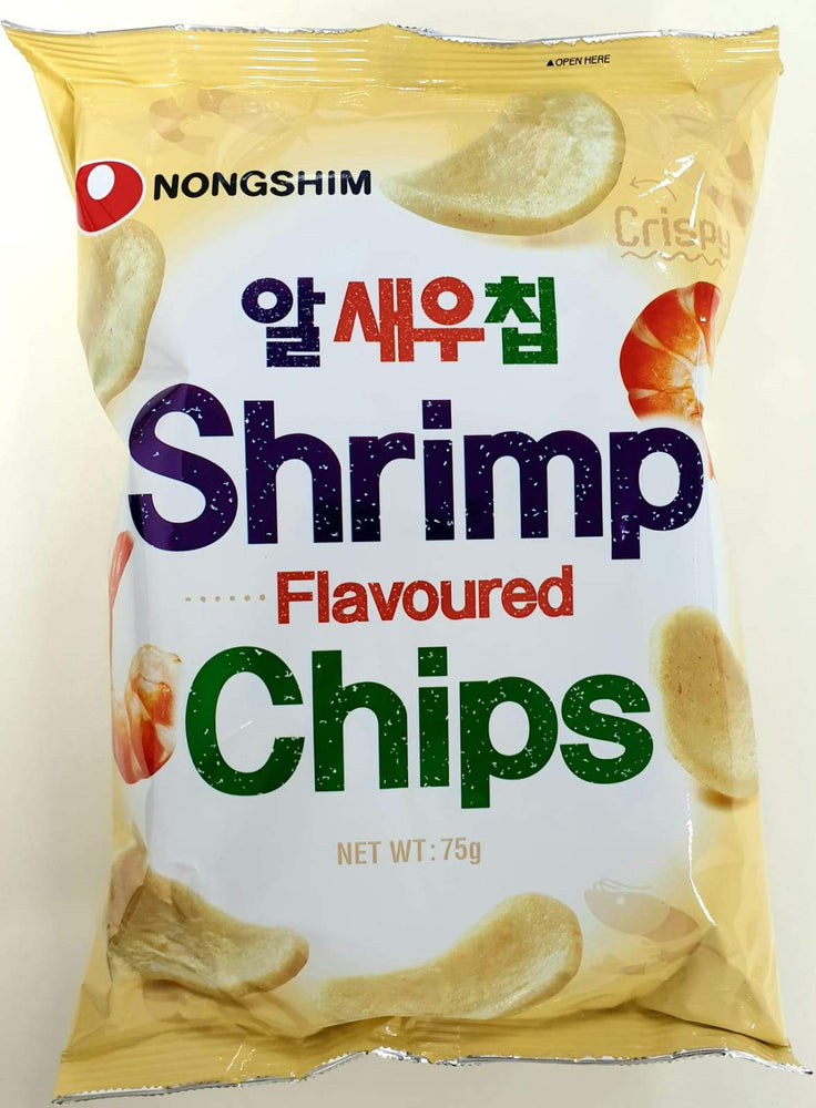 Nongshim Shrimp Flavoured Chips 75g - Yin Yam - Asian Grocery
