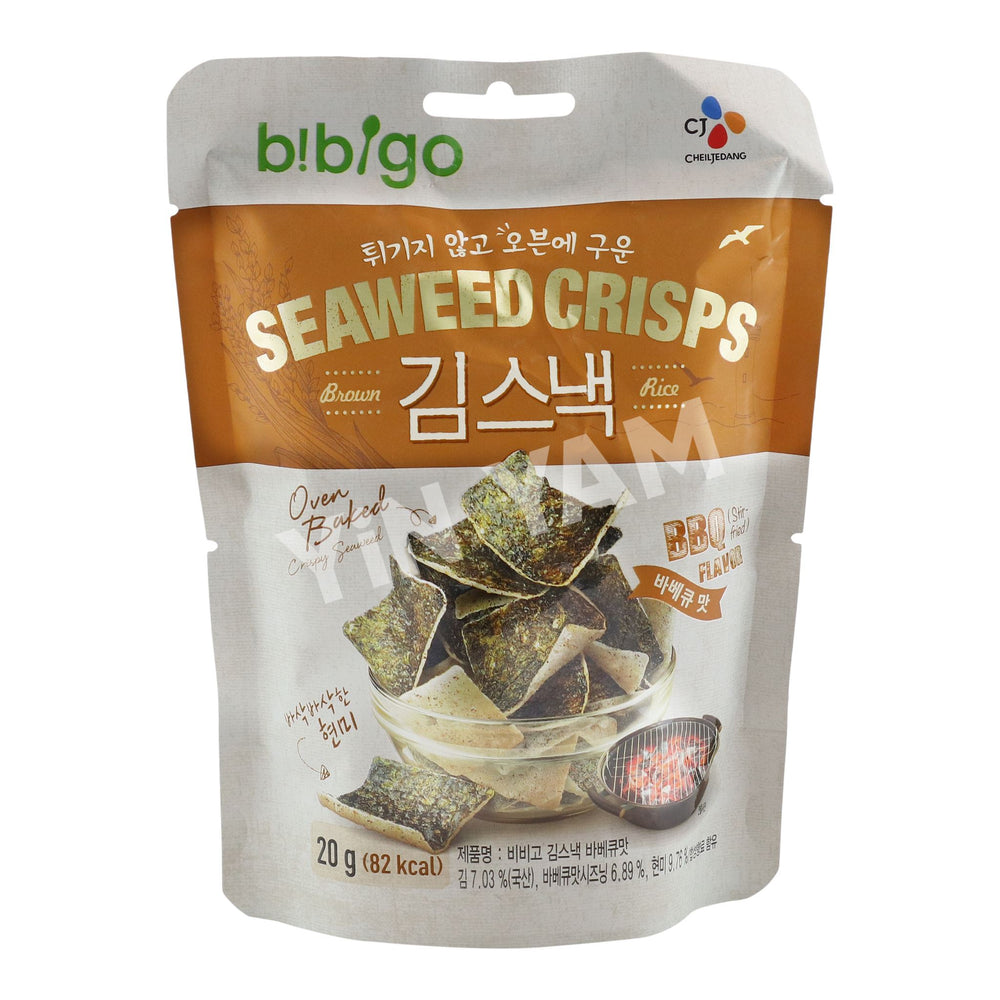 CJ Bibigo SEAWEED CRISPS BBQ 20g - Yin Yam - Asian Grocery
