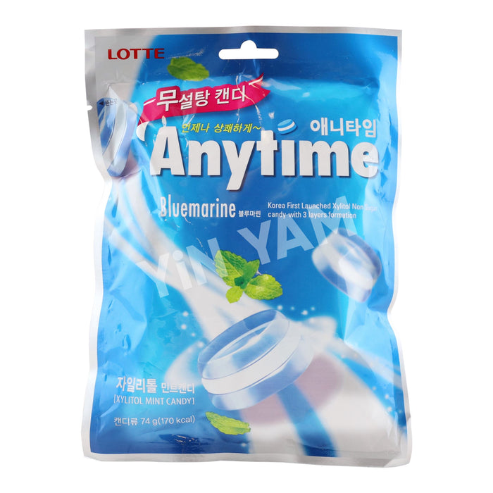 Lotte Anytime Bluemarine Candy 74g