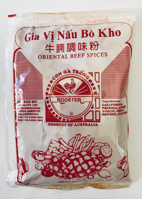 Rooster GIA VI NAU BO KHO Oriental Beef Spices 56.7g Seasoning Powder Rooster