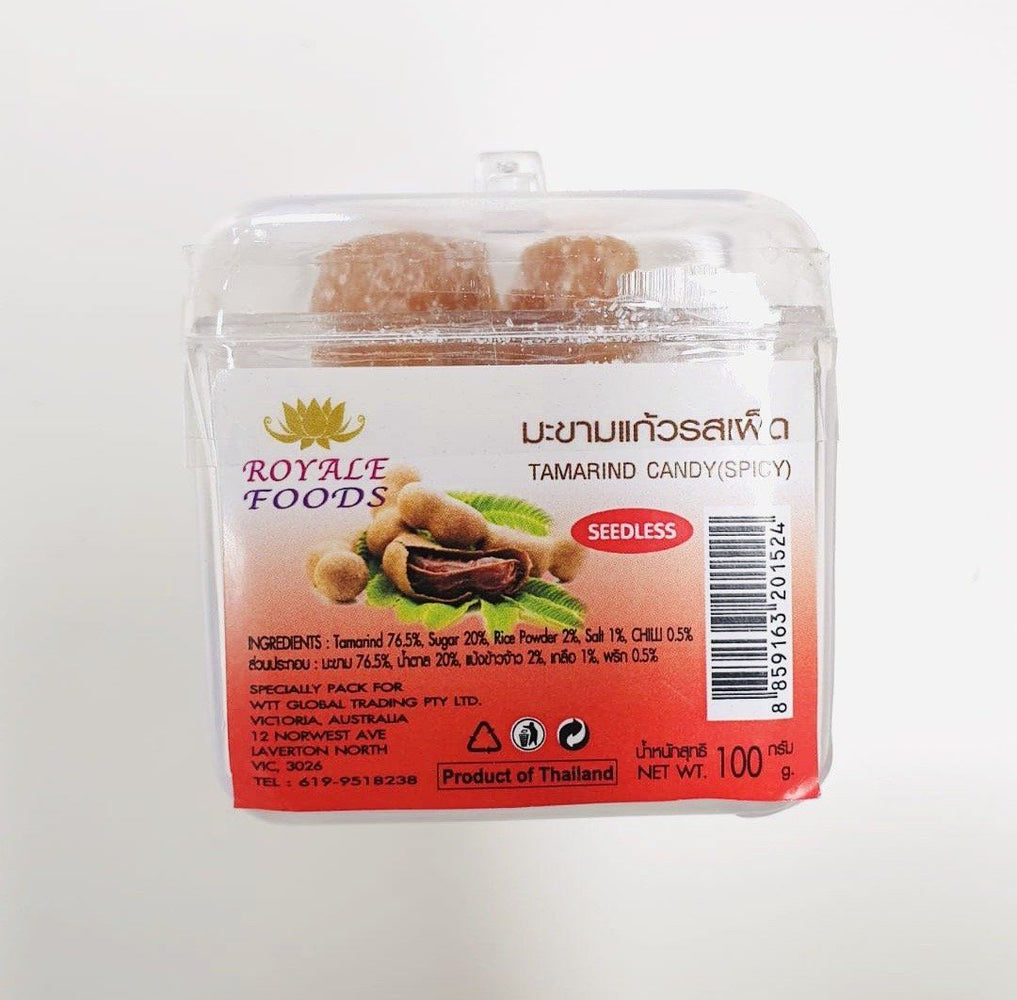Royale Foods Seedless Tamarind Candy SPICY 100g