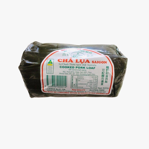 Saigon Food CHILLED CHA LUA SAIGON Cooked Pork Loaf GLUTEN FREE 500g