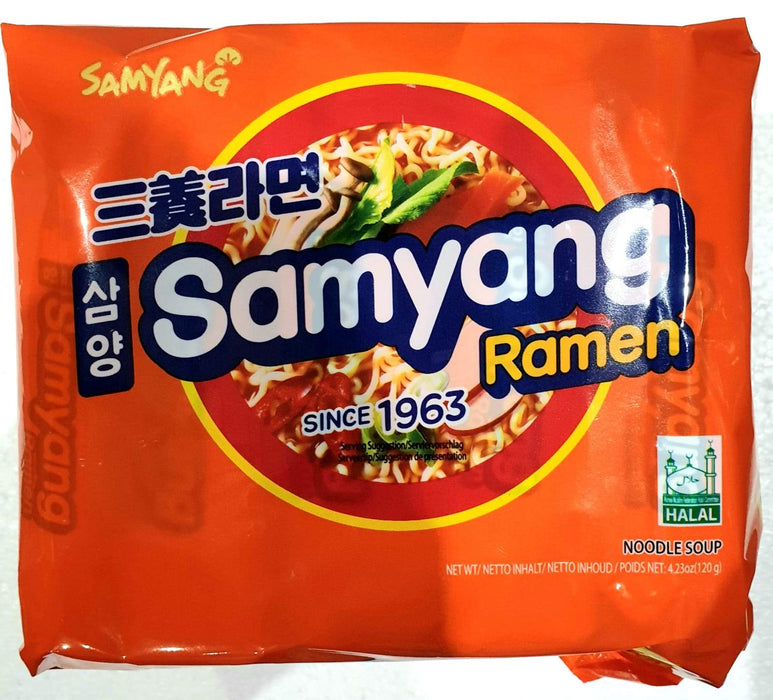 Samyang Instant Noodle Ramen 120g x 5packs - Yin Yam - Asian Grocery