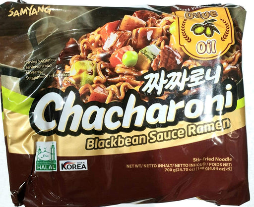 Samyang Jajaroni CHACHARONI Black Bean Sauce Ramen 140g x 5packs - Yin Yam - Asian Grocery