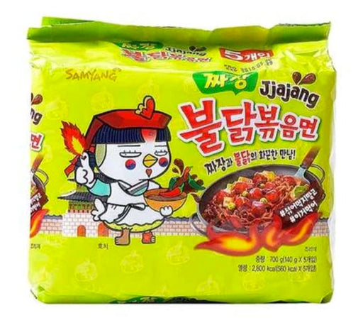 Samyang Jjajang Hot Chicken Flavor 140g x 5packs - Yin Yam - Asian Grocery