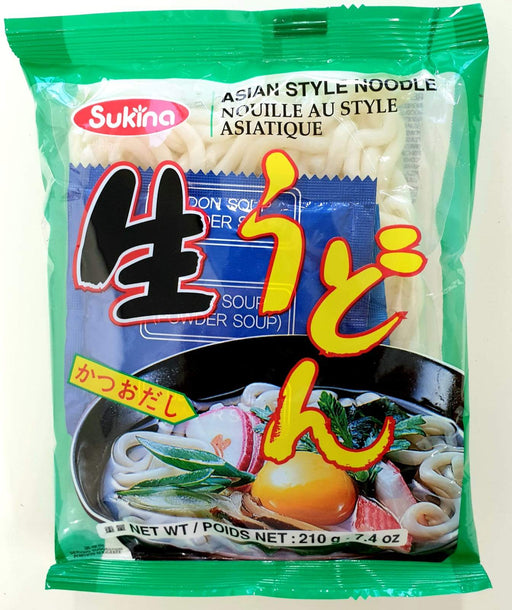 Sukina Asian Style Udon Noodles (with soup powder) 210g - Yin Yam - Asian Grocery