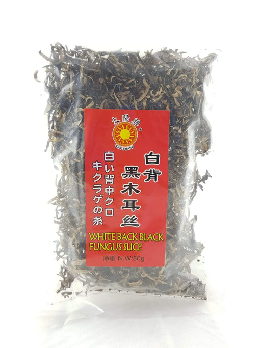 Sun Brand White Back Black Fungus Strip 80g - Yin Yam - Asian Grocery