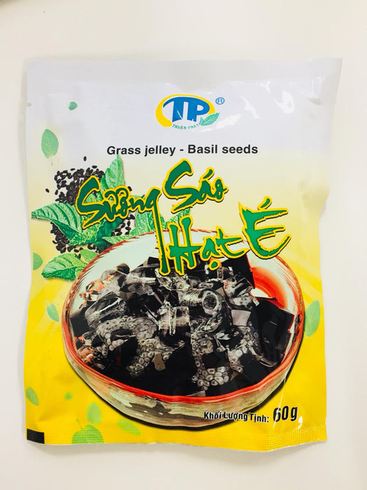 TP Grass Jelly Powder BASIL SEEDS 60g - Yin Yam - Asian Grocery