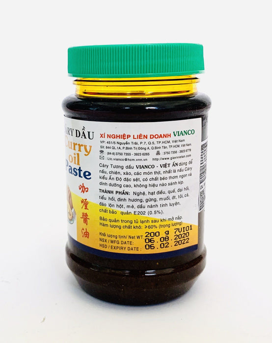 Vianco CARY DAU Curry Oil Paste 200g
