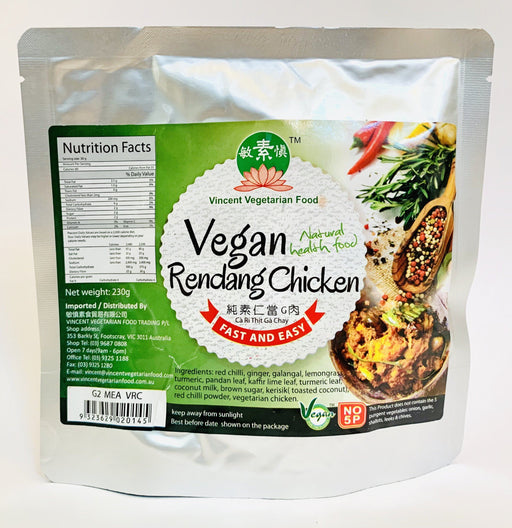 Vincent Vegetarian VEGAN RENDANG CHICKEN 230g