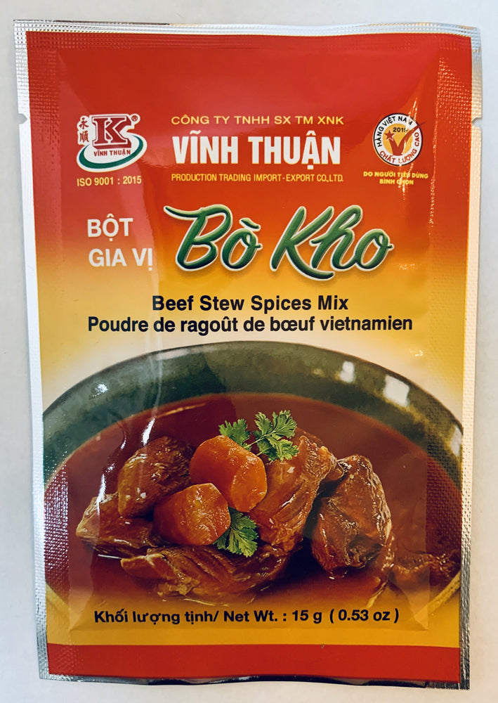 Vinh Thuan BO KHO Beef Stew Spices Mix 15g Seasoning Powder Vinh Thuan