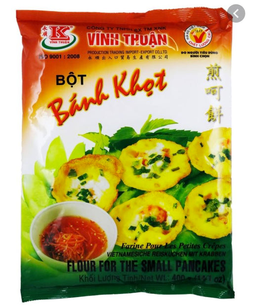 Vinh Thuan Bot Banh Khot Flour For Small Pancakes 400g - Yin Yam - Asian Grocery