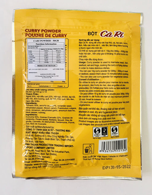 Vinh Thuan BOT CA RI Curry Powder 50g