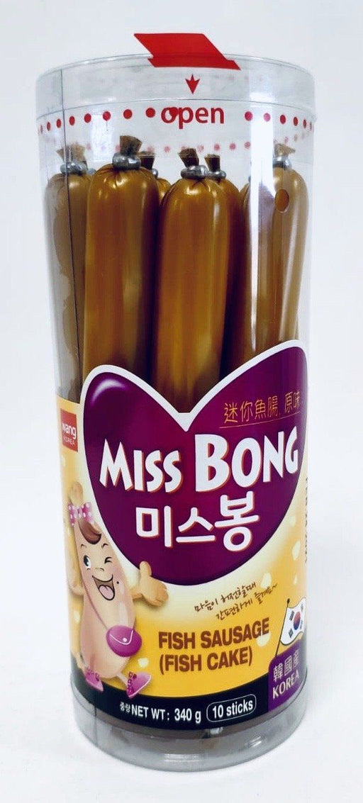 Wang Korea MISS BONG Fish Sausage Fish Cake 340g 10sticks Instant Meals Wang Korea