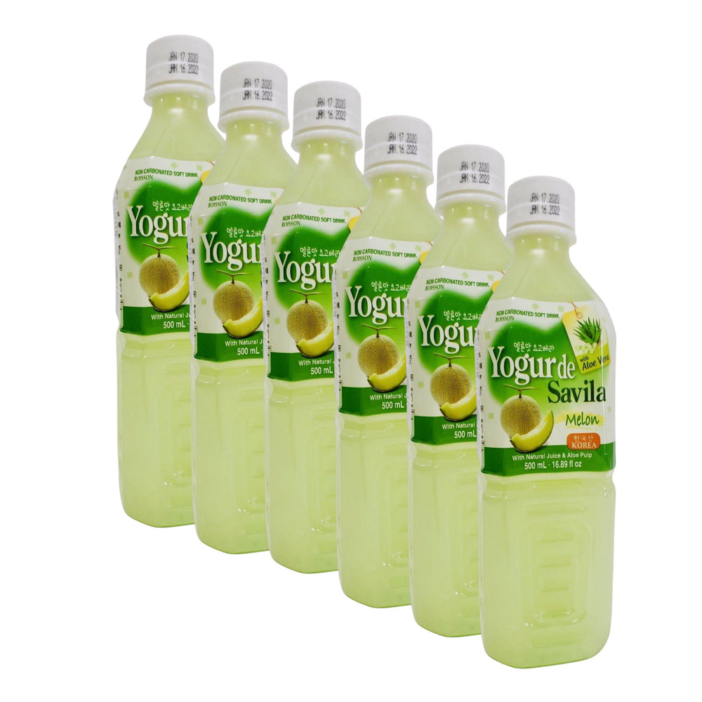 Wang Korea Yogo Vera MELON with Aloe Vera Pulp 500ml-Pack of 6