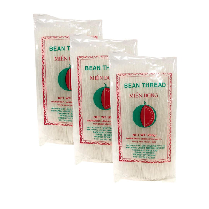 Watermelon Brand Mien Dong Bean Thread 250g-Pack of 3