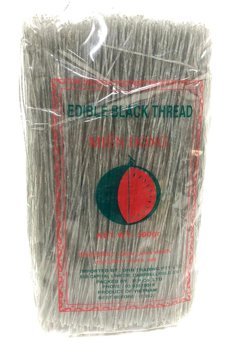 Watermelon Brand Mien Dong Edible Black Thread 500g - Yin Yam - Asian Grocery