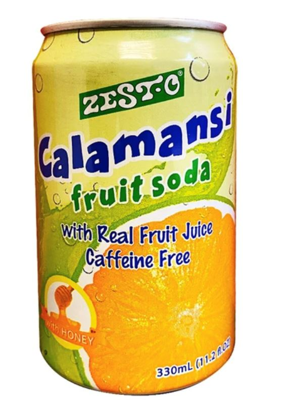 Zesto CALAMANSI Fruit Soda 330ml Drink Zesto