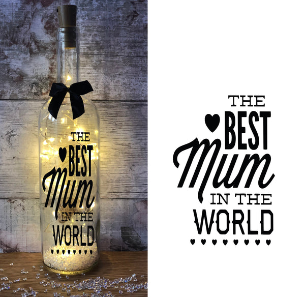 """Best Mum"" Light Up gift bottle - AwwBottles"