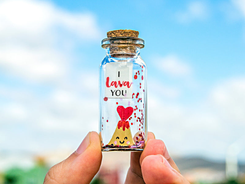 """I lava you Volcano"" Gift Bottle - AwwBottles"