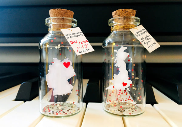 """Love Coordinates"" Gift bottle - AwwBottles"