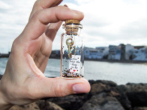 Personalized Gift for girlfriend hold the key to my heart Message in bottle - AwwBottles
