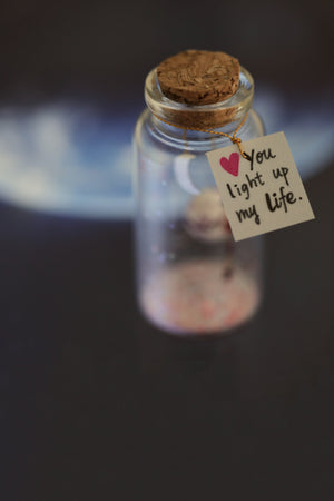 """YOU LIGHT UP MY LIFE"" Gift Bottle - AwwBottles"