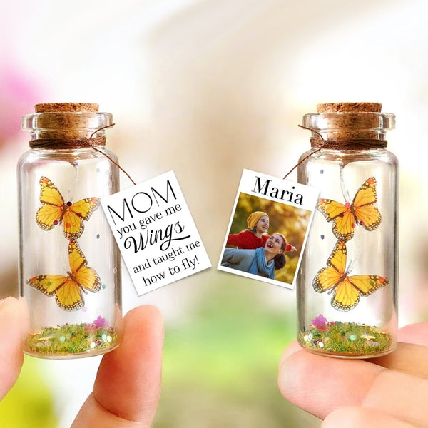 """Mom You Gave Me Wings"" Gift Bottle - AwwBottles"