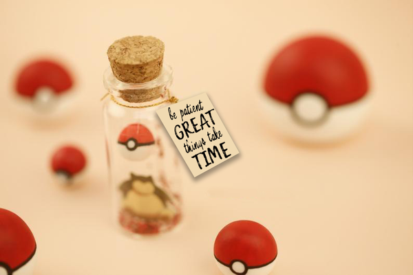 """Snorlax Pokeball"" Gift Bottle - AwwBottles"