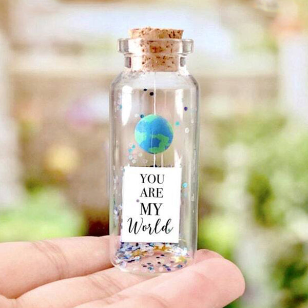 """Personalized My World"" Gift Bottle - AwwBottles"