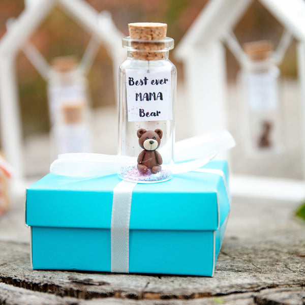 """Personalized Best Ever Mama Bear"" Gift Bottle - AwwBottles"