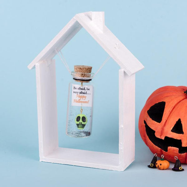 Be Afraid, Be Very Afraid Skull Halloween Personalize Gift - AwwBottles