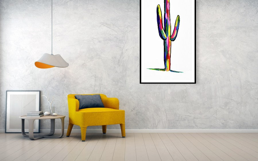 Colorful Saguaro Cactus Painting | Our Story at Wallasso.com
