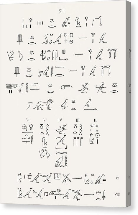 Ancient Egyptian Hieroglyphics - Canvas Print from Wallasso - The Wall Art Superstore