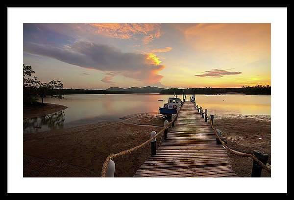 Boardwalk At Sunset - Framed Print from Wallasso - The Wall Art Superstore