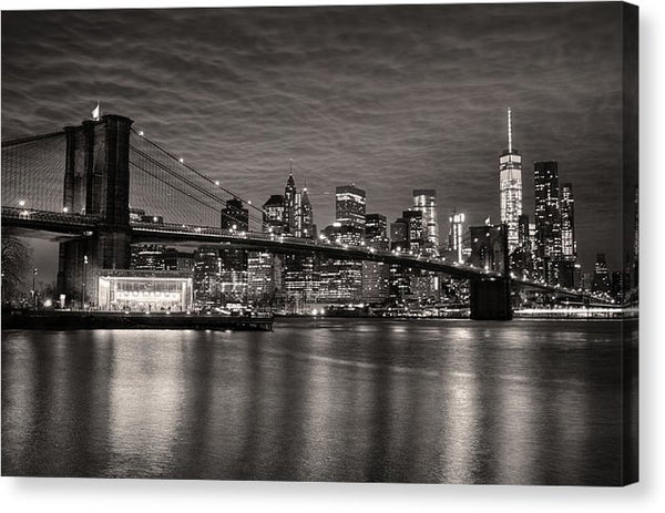 Brooklyn Bridge With New York City Skyline - Canvas Print from Wallasso - The Wall Art Superstore