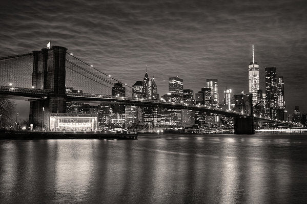 Brooklyn Bridge With New York City Skyline - Art Print from Wallasso - The Wall Art Superstore