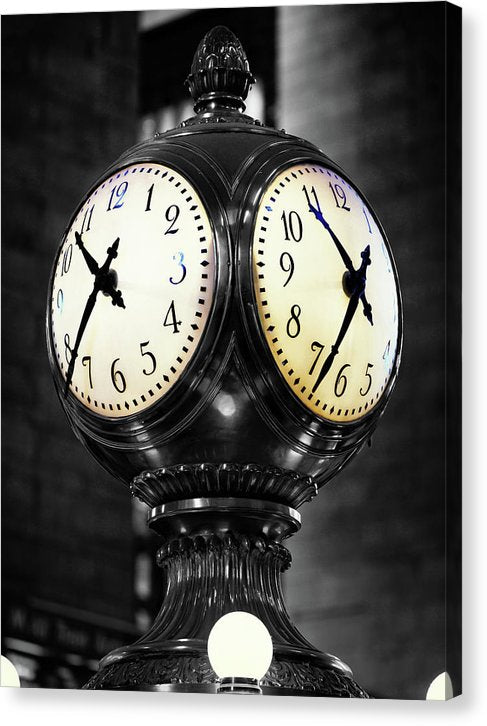Clock In New York City's Grand Central Station - Canvas Print from Wallasso - The Wall Art Superstore