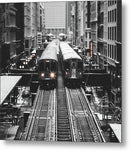 Elevated City Trains - Metal Print from Wallasso - The Wall Art Superstore